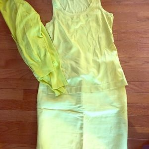 The Limited skirt set size small lime green